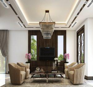 Thiết kế nội thất biệt thự cao cấp, sang trọng nhà Chị Hợp tại Vinhome Long Biên