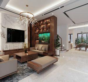 Thiết kế nội thất biệt thự Gamuda nhà A Thủy