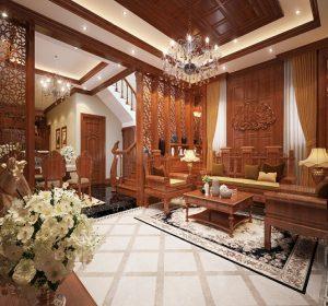 Thiết kế nội thất biệt thự tân cổ điển nhà Chú Mạnh tại Tây Hồ