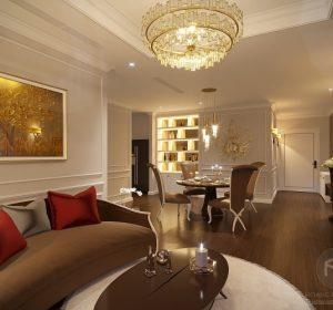 Thiết kế nội thất sang trọng tại chung cư Parkhill, Hà Nội